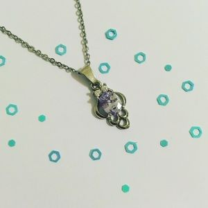 Lovely Faux Lilac Diamond Necklace